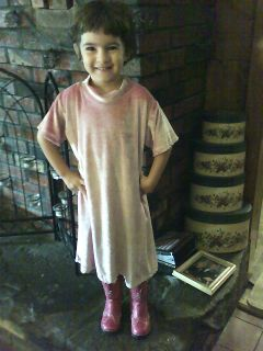 Hope in cowgirl boots and self cut hair