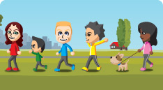 Personal trainer walking graphic