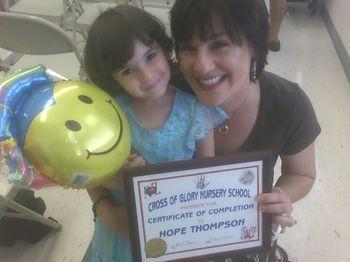 Hope graduating nursery school