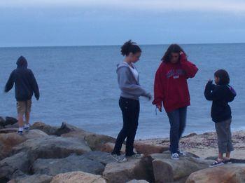 Jersey Kids on Cape Rocks