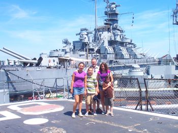 Garth and kids at Battleship Cove