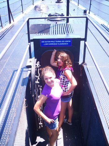 Jersey Girls on tour of USS Massachusettes, et. al.