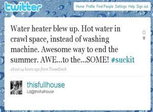 Water heater twitter