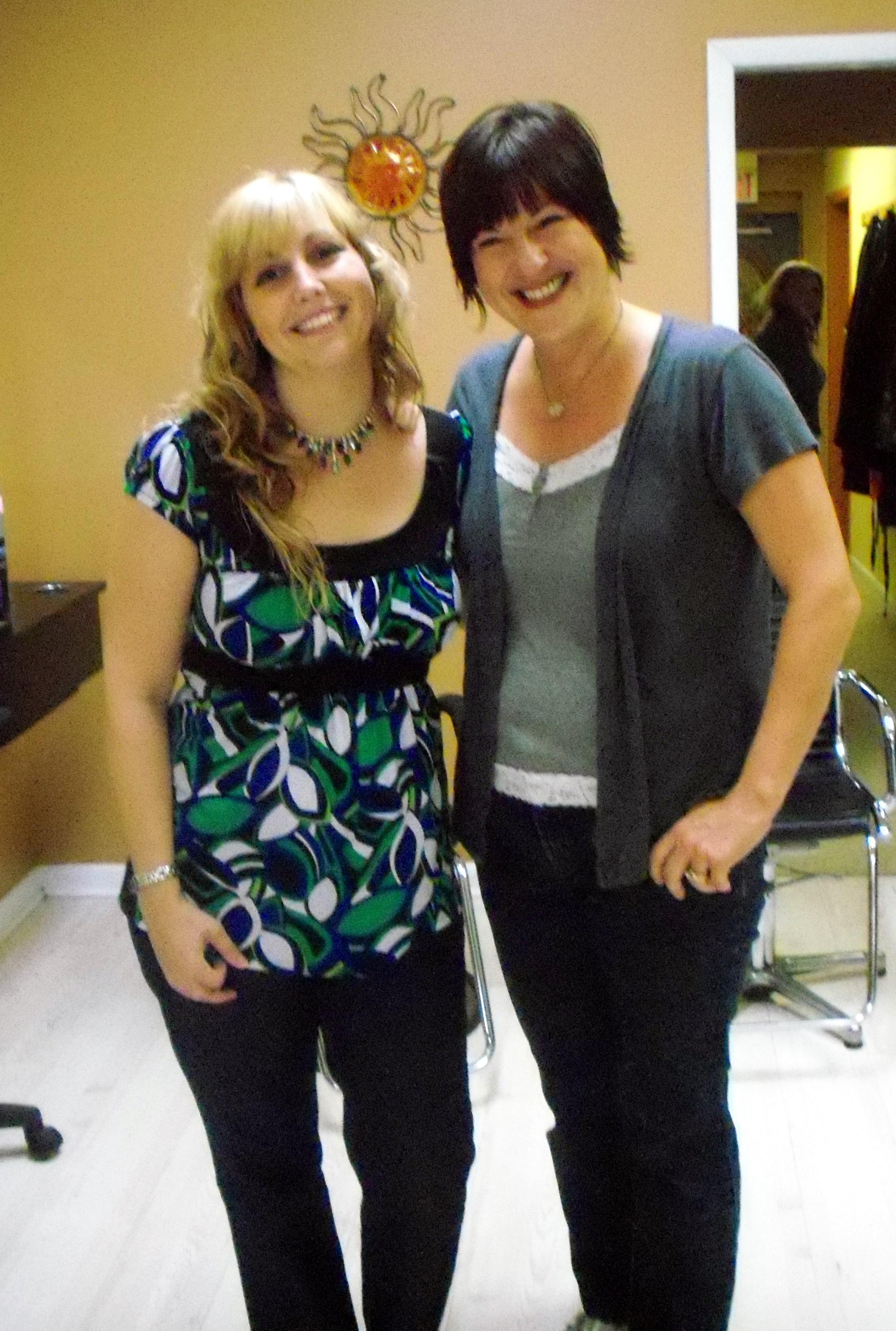 Lorrie and Liz at Salon Soliel