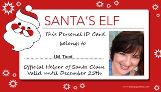 Santa's Elf Card for Mom