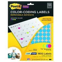 Post-it removable color coding dots