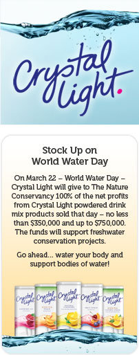 Crystal light world water day