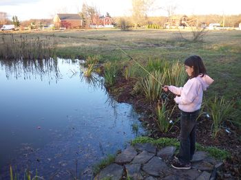 Hopey Fishes at Pittsgrove Farm