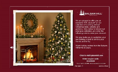 balsam hill is offering our readers a 10 discount on artificial christmas trees wreaths and garlands expires 121809 enter coupon code ecard09 - Discount Christmas Trees