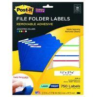 Post-it removable file folder labels
