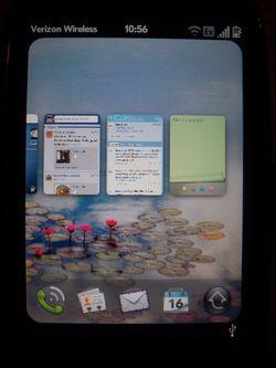 Palm Pre Plus Multiple Screens small