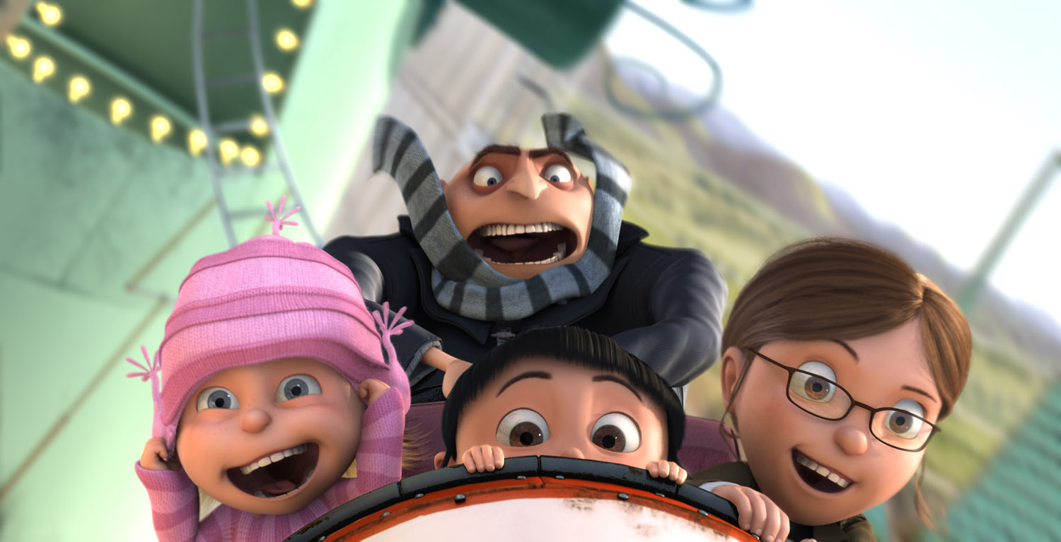 Gru and Kids on Rollercoaster!