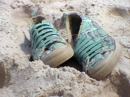 Sand-and-sneakers