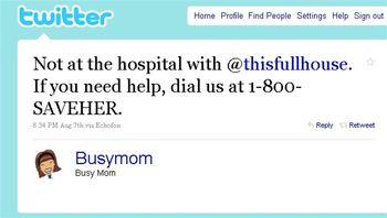 BlogHer 10 SaveHer Tweet 2
