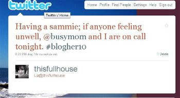 BlogHer SaveHer On Call Tweet