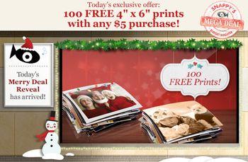 Snapfish 100 Free prints