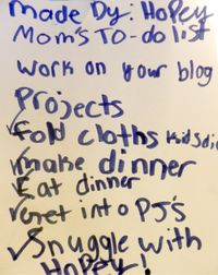 Mom's To Do List