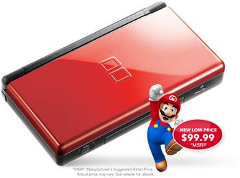 Nintendo ds lite reduced price