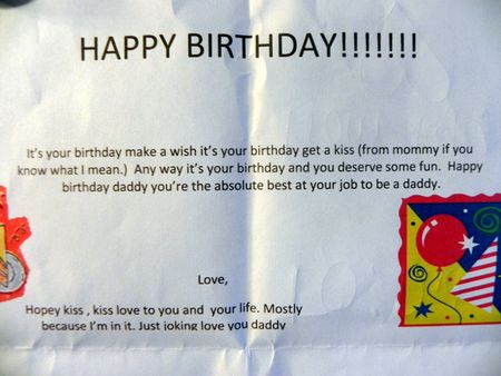 Hope's Birthday Card for Garth (not his real name)
