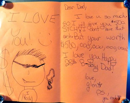 Glen's Birthday Card for Garth (not his real name)