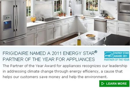 Frigidaire Energy Star Award
