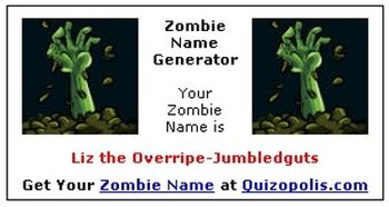 Zombie Name Generator