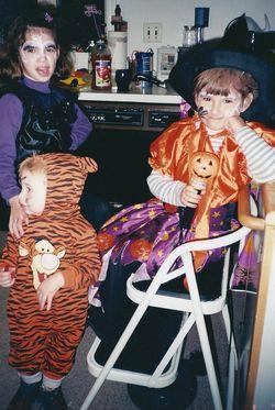 Holly Heather and Glen Halloween 2000