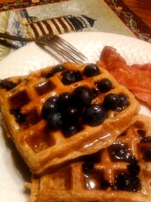 Berry Yogurt Waffles