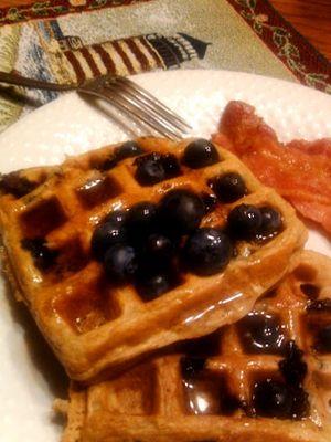 Berry Yogurt Waffles