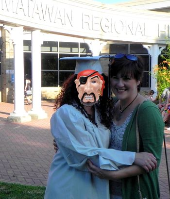 Holly and Mom Graduation 2012 with Pirates