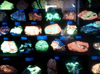 Glowing rocks
