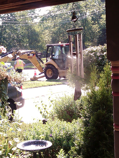 Day 2 of Heavy Machinery on My Lawn