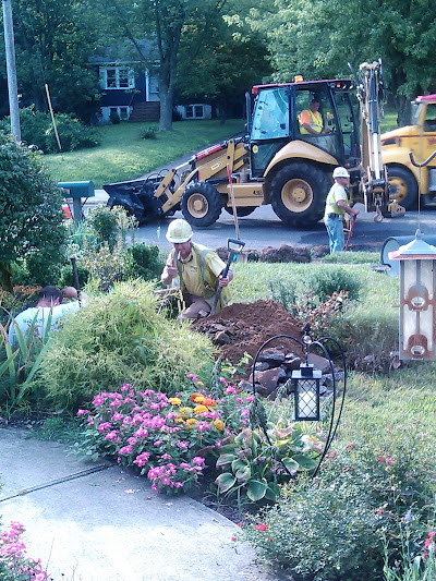 Day 1 of Heavy Machinery on My Lawn