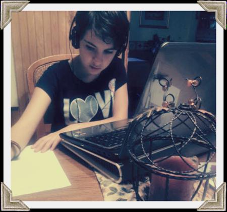Hope still loves homework, sort of.
