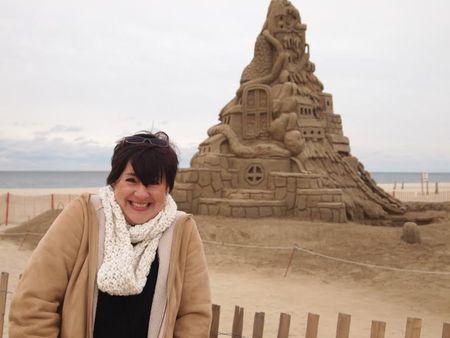 World's biggest sand castle frozen