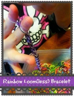 Rainbow Loomless Bracelet
