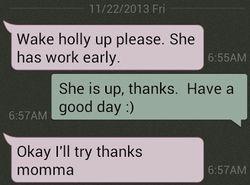 Heather's text