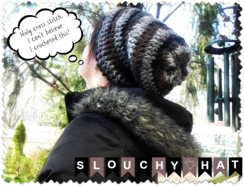 Slouchy hat via This Full House