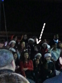 Hope singing at the tree lighting or at least I am pretty sure it is her