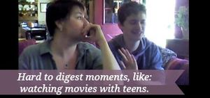 Watching movies with teens can be very awkward, FOR THEM!