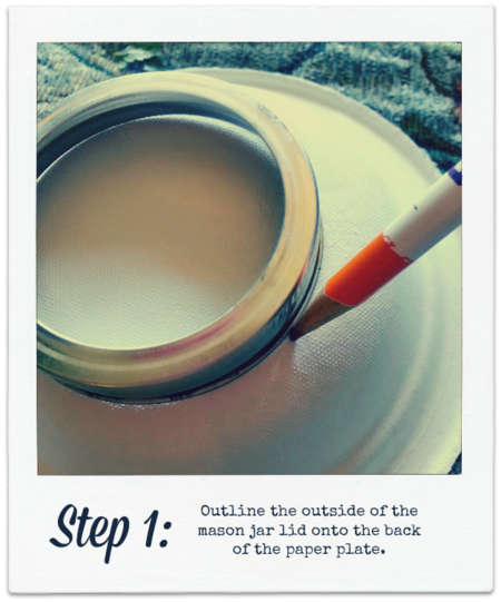 Mason jar craft step 1