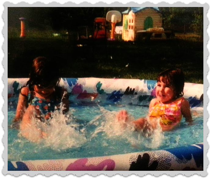 Holly and Heather in the pool!